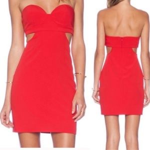 NBD | Scoop Me Up Dress Strapless Red NWT